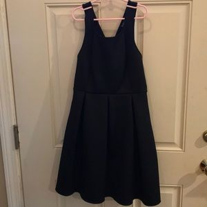 Black party dress by Express.